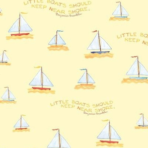 Sail Boats- Yellow