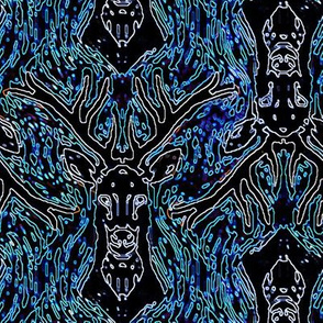 Neon Woodblock Buck