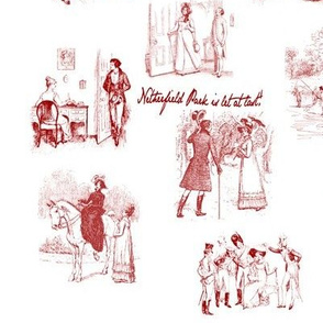Pride and Prejudice Toile Red
