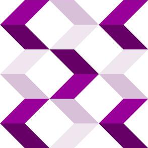 Large Modern Chevron Arrows // Berry Purple