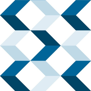 Large Modern Chevron Arrows // Blue