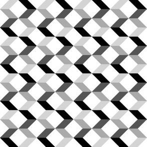 Small Modern Chevron Arrows // Black Gray