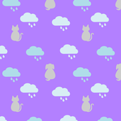 Raining  Cats & Dogs - Purple