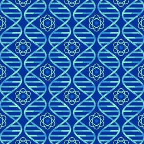 dna bases + atom : cool blues