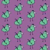 Business Bird - plum & mint
