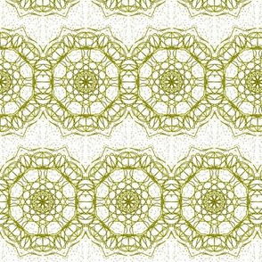 Gold Filigree Lace Ribbons On White