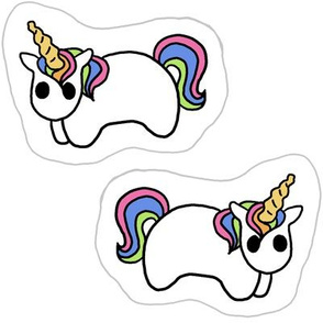 Tiny Rainbow Unicorn Pillow