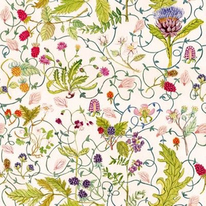 Hand-painted Botanical Pattern