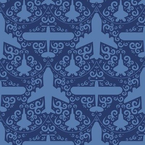 Aircraft Damask (Navy)