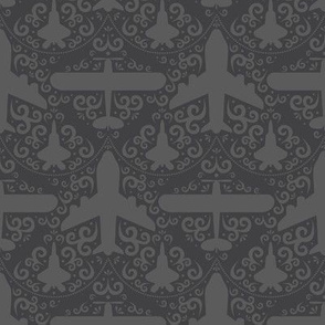 Aircraft Damask (Gray)