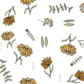 Forest flowers - orange