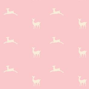 Deer 2 - pink cream