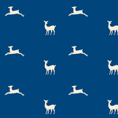 Deer 2 - ocean cream