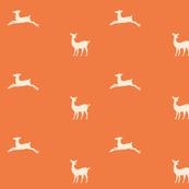Deer 2 - tangerine cream