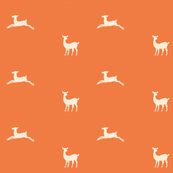 Deer 2 - tangerine cream
