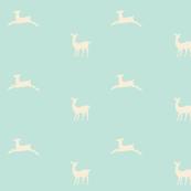 Deer 2 - seafoam cream