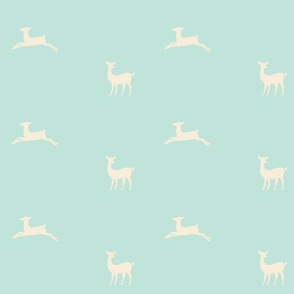 Deer 2 - seafoam cream