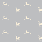Deer 2 - gray cream