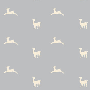 Deer 2 - gray cream