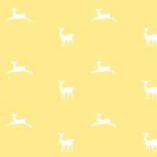 Deer 2 - yellow white