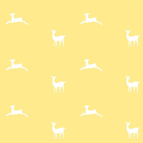 Deer 2 - yellow white
