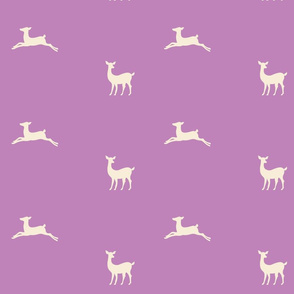 Deer 2 - lavender cream