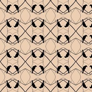 Robin Pattern 1 (Beige & Black)
