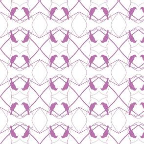 Robin Pattern 1 (White & Plum)