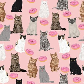 cats and donuts pink sweet doughnuts donut food pink sweets bakery cats girls