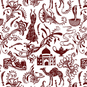 Arabian Nights in Crimson - Small