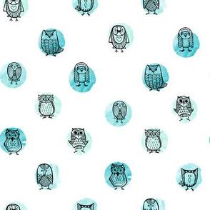 Owls On Water // Aqua