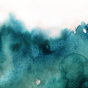 ocean watercolor, light ombre
