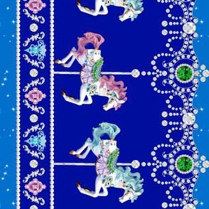 egl lolita carousel pony horse carnival border baroque Un Manege Robe jewels gems glitter sparkles stars