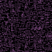 Physics Equations on Chalkboard - Pink