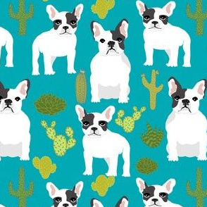 french bulldogs bulldogs frenchies cute dogs cactus cacti plants succulents summer fun dog print