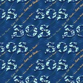 'S.O.S ~ Save Our Seas' Aquatic Message