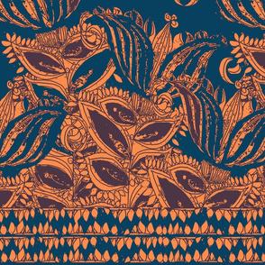 Lilies in Terracota & Blue