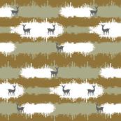 deer camo  2  LG - brown