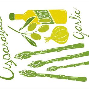Bon Appetit Tea Towel  - Vegetables Cooking Kitchen
