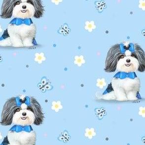 April Malshi Blue Pattern M
