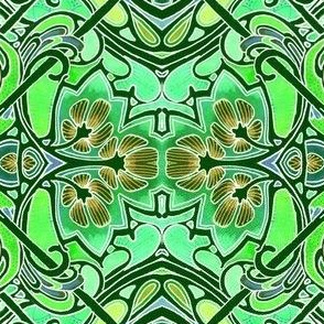 Tiffany Rolls Over In His Grave (stained glass floral)