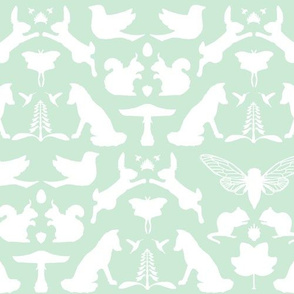 woodland damask mint