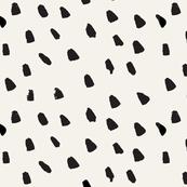 Painted Dots on Cream - Medium