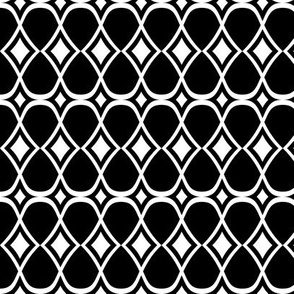 Infinity Geometric Black & White
