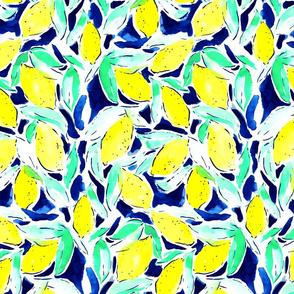 Bold Lemons Blue