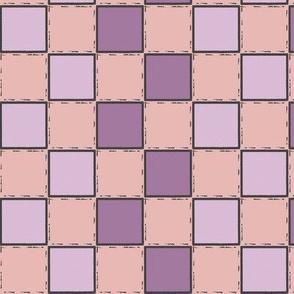 purple checker pink checker