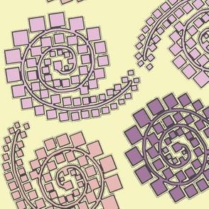 mulit purple square paisley
