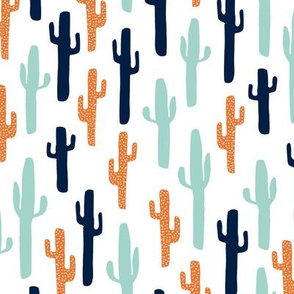 cactus // orange mint navy blue kids boys cactus cacti kids baby