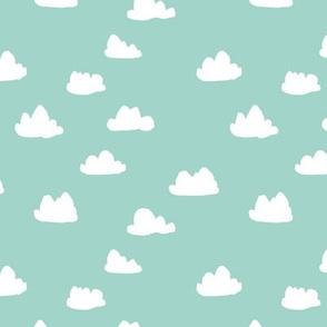 clouds // mint kids baby nursery sweet boys mint