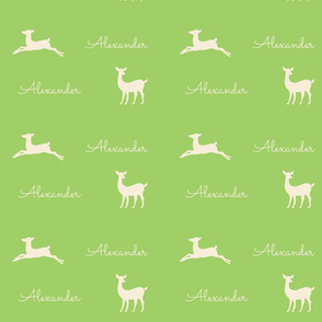 Deer 2 Personalized  - kiwi cream